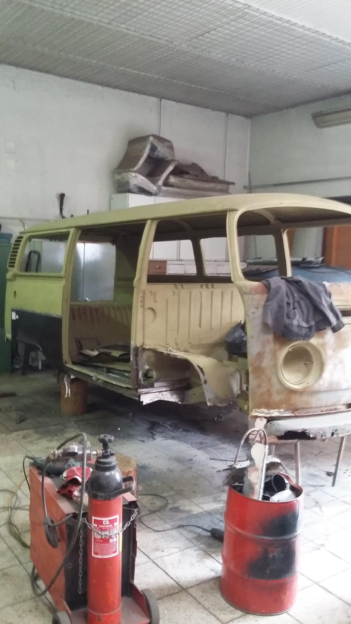 volkswagen T2 renovace dodavky